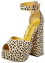 Charlotte Olympia Chantale Suede Platform Sandal