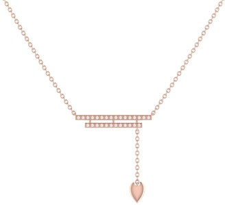 Lmj Wrecking Ball Lariat Necklace In 14 Kt Rose Gold Vermeil On Sterling Silver