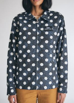Vans Women's Sandy Liang Coaches Jacket in Snake Polka Dot, Size Extra Small