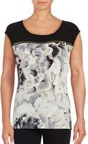 Calvin Klein Floral Print Cap Sleeved Top