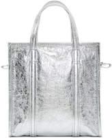 Balenciaga Silver Small AJ Bazar Shopper Tote