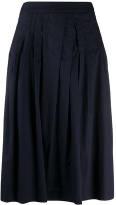 Peserico Pleated Midi Skirt