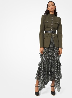 Michael Kors Cotton-Twill Military Jacket