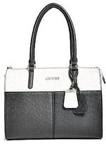 GUESS Women's Tillman Ostrich-Embossed Satchel