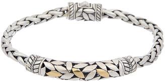 Samuel B. 18K & Silver Leaf Design Bracelet