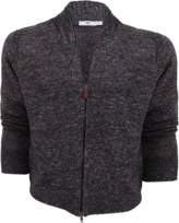 INIS MEAIN Mixed Linen Zip Cardigan