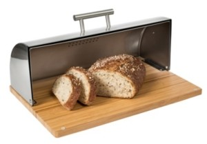 Honey-Can-Do Stainless Steel Bread Box with Bamboo Board