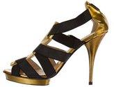 Oscar de la Renta Metallic Caged Sandals