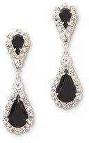 JCPenney Vieste Rosa Vieste Black and Clear Rhinestone Teardrop Earrings