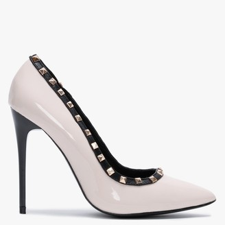 Df By Daniel Carley Nude Studded Court Shoes