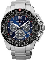 Seiko Aviator Mens Stainless Steel Solar Chronograph Watch SSC275