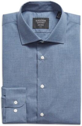 Nordstrom Trim Fit Non-Iron Dress Shirt