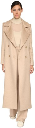 Max Mara Double Breasted Camel & Cashmere Coat