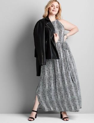 Lane Bryant Mixed-Print Sleeveless Maxi Dress