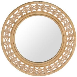 Kouboo Rattan Braided Decorative Wall Mirror, Natural Color