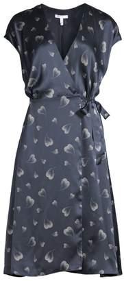 Joie Bethwyn Heart Print Wrap Dress