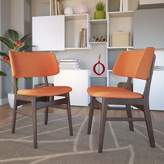 Modway Vestige Upholstered Dining Side Chair in Dark Brown Upholstery Color: Orange