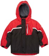 London Fog Red & Black Removable-Lining Puffer Coat - Boys