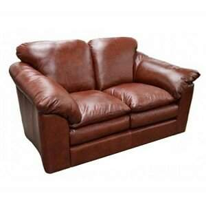 Omnia Leather Oregon Leather Loveseat Omnia Leather Body Fabric: Empire Butternut, Seat Cushion Fill: Down Cushion Fill