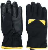 Fendi Bag Bugs gloves - men - Goat Skin/Polyamide/Polyester/Spandex/Elastane - S
