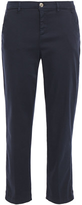7 For All Mankind Cropped Cotton-blend Twill Tapered Pants