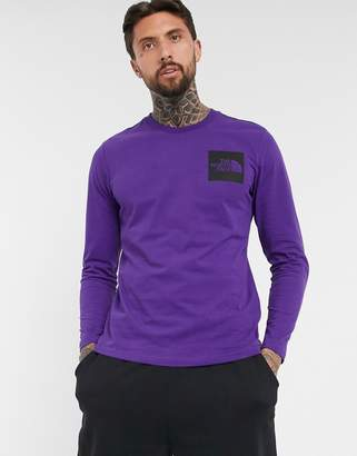 The North Face Fine long sleeve t-shirt in purple