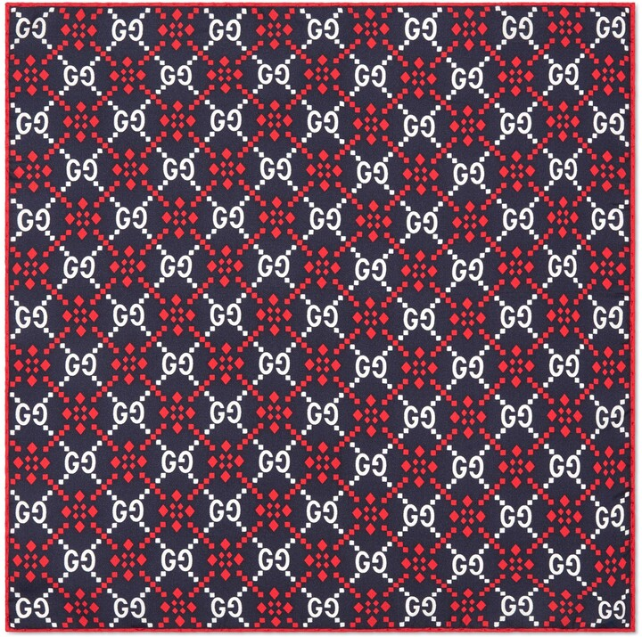 Thumbnail for your product : Gucci GG diamond silk pocket square