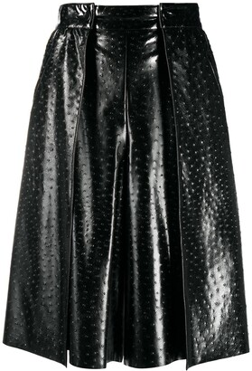MSGM Faux-Leather Ostrich-Effect Skirt