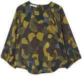 MANGO Camo-print blouse