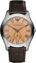 Emporio Armani Men's Classic AR1704 Rose- Leather Quartz Watch