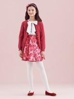 Oscar de la Renta Wild Roses Mikado Circle Skirt
