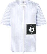 Oamc oversized striped patch shirt