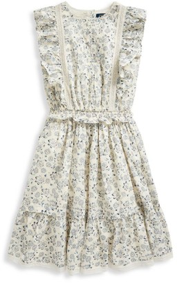 Ralph Lauren Little Girl's & Girl's Cotton Poplin Dress