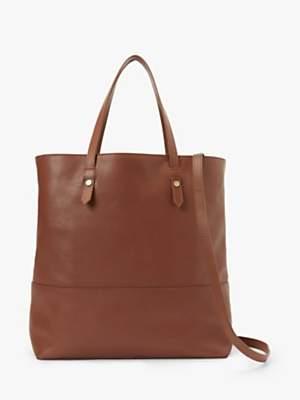 John Lewis & Partners Leather Work Tote Bag