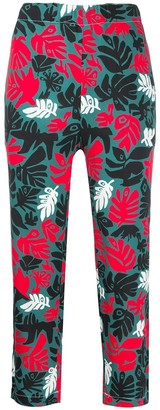 Marni Multicolored Floral Cropped Pants