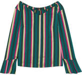 Etro Striped Cotton-blend Poplin Top