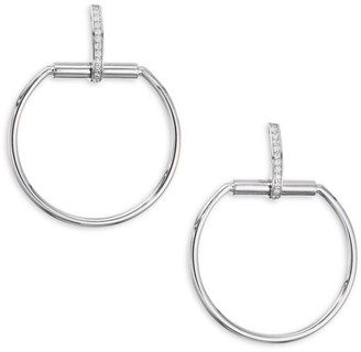 Roberto Coin Classic Parisienne 0.20 TCW Diamond & 18K White Gold Earrings