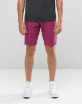 Bellfield Chino Shorts in Berry