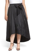 Eliza J Plus Size Women's High/low Taffeta Ball Skirt