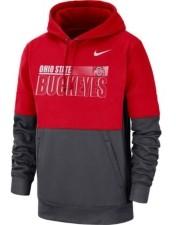 Nike Ohio State Buckeyes Men's Therma Colorblock Hooded Sweatshirt