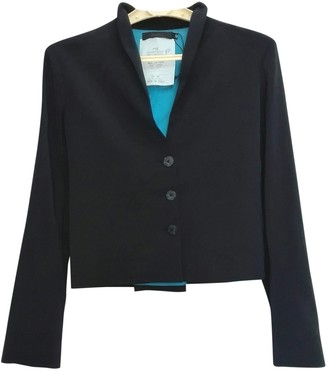 Romeo Gigli Blue Silk Jacket for Women