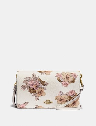 Coach Hayden Foldover Crossbody Clutch With Floral Bouquet Print