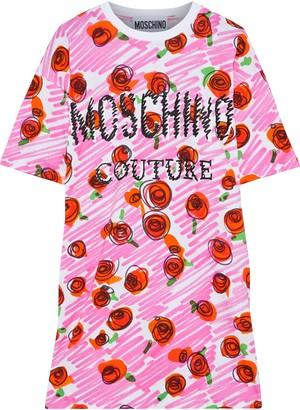 Moschino Printed Cotton-jersey Mini Dress