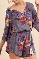 Umgee USA Abstract Floral Romper