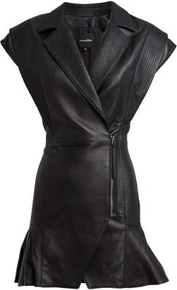 retrofete Jessica Leather Mini Dress