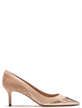 HUGO Heeled pumps with hybrid calf-leather uppers