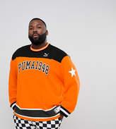 Puma Plus Hockey Sweat In Orange Exclusive To Asos