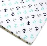 Wendy Bellissimo Wendy BellissimoTM Mix & Match Anchor Fitted Crib Sheet in Grey/Teal