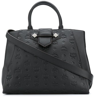 MCM All-Over Embossed Logo Tote Bag