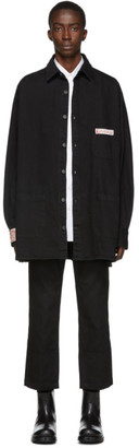 Raf Simons Black Denim Big Fit Shirt